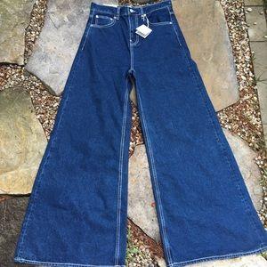 NWT ZARA The Vintage HW Flare Wide Leg Jeans